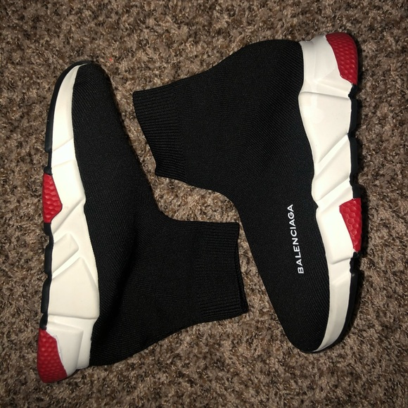 Balenciaga Speed Trainer Red And Black